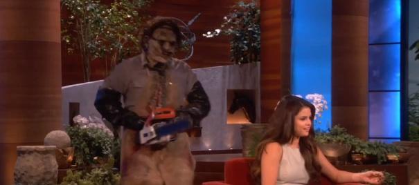 Video- Selena Gomez Gets Scared on The Ellen Show [Funny Stuff]