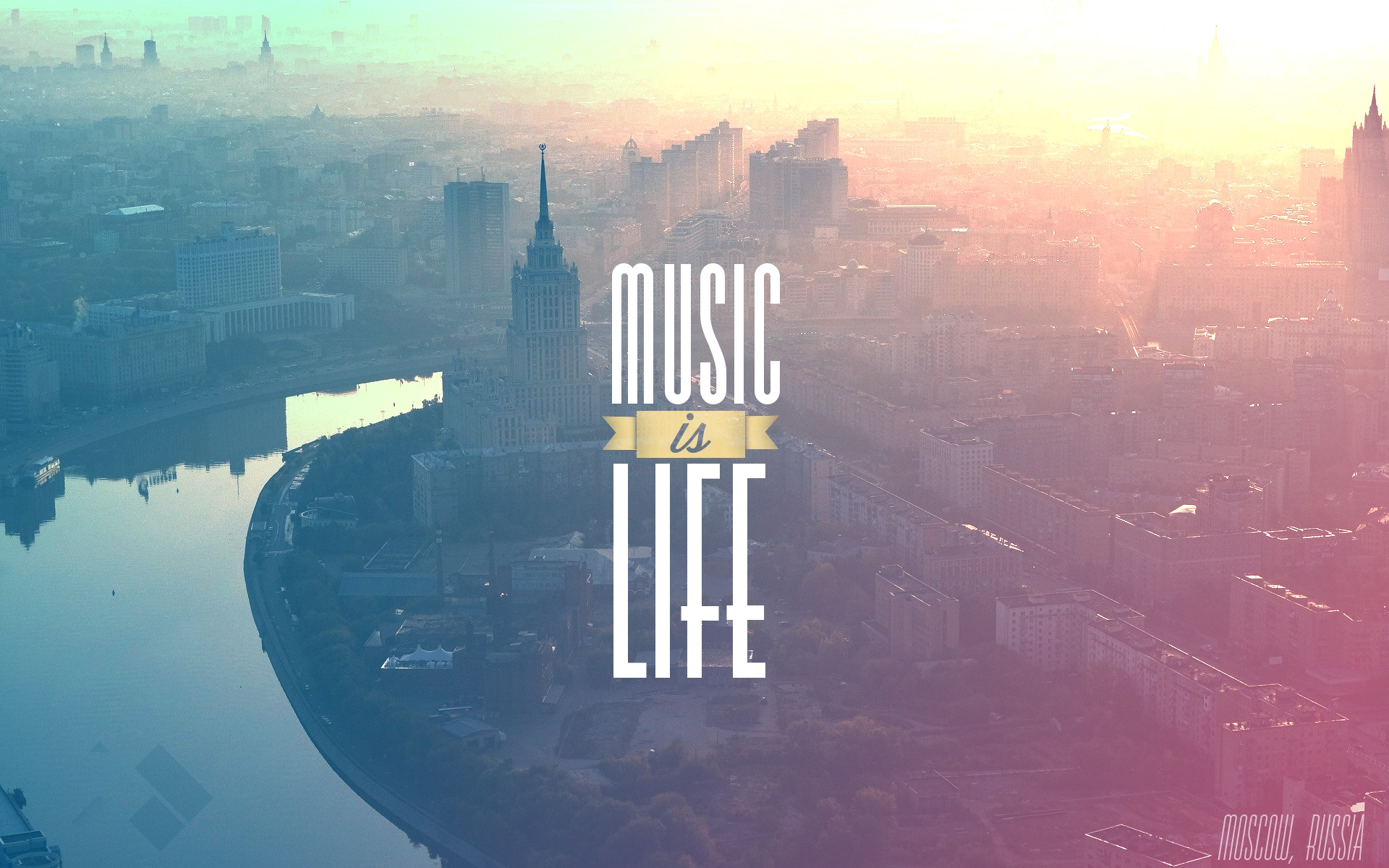 "Home Wallpaper Life: CoriMag Wallpaper Of The Week #2: ""Music Is Life"" (Moscow"