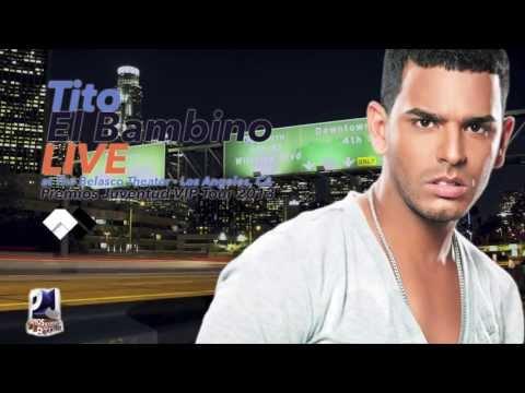 """Tito """"El Bambino"""" performing at Premios Juventud VIP Tour 2013 show"""