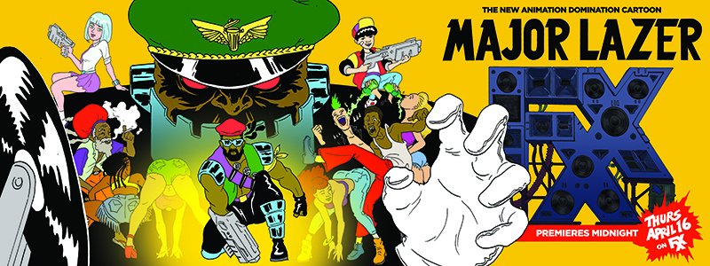 Major Lazer Cartoon Premiere